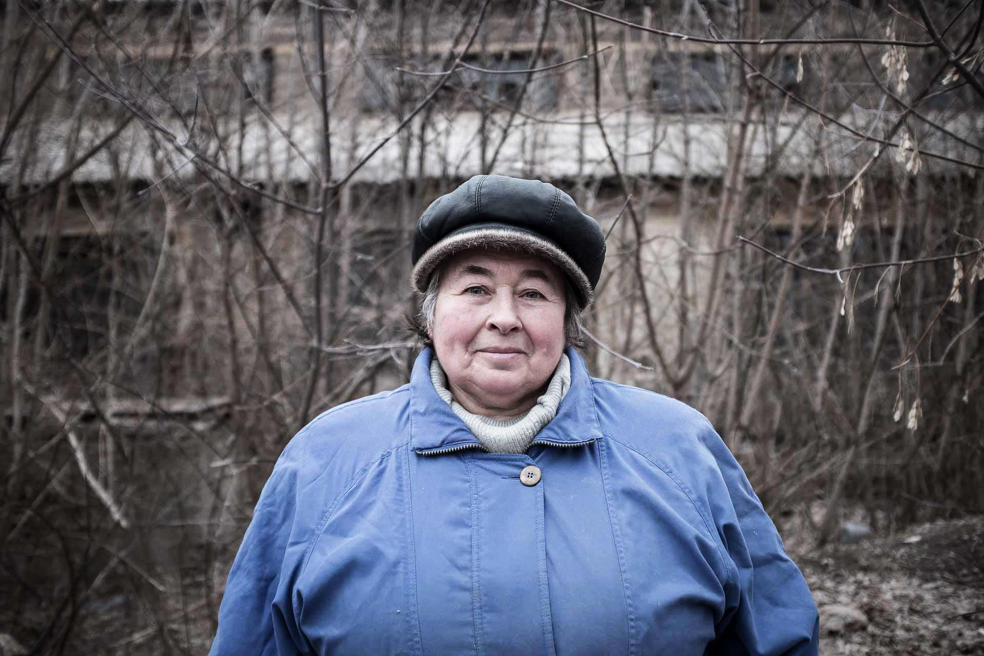 "Liudmila, 67, is from Slaviansk. During Soviet times, she worked in the ceramic factories of the city. She is convinced that DNR sessionists are not the solution and supports the Ukrainian government, hoping that Poroshenko ""family"" will be less corrupt than the previous one. Slaviansk - UKRAINE"