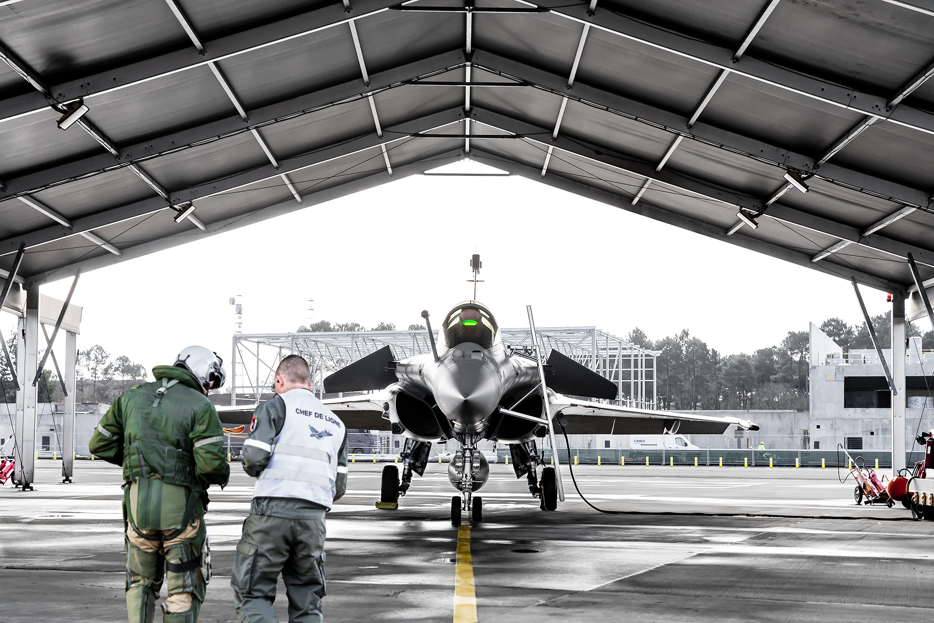 Behind the scenes of the B118 airforce base